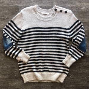 Obey Siren Elbow patch sweater